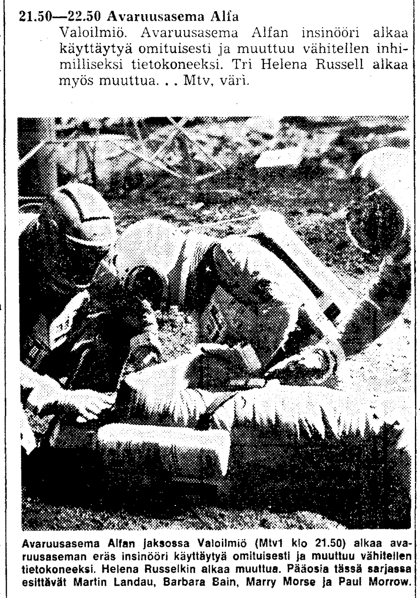 Helsingin Sanomat, Saturday 7 August 1976